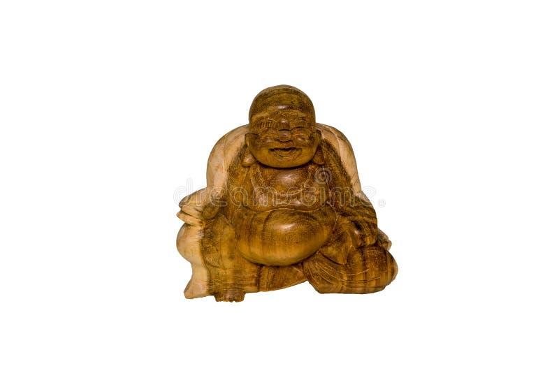作为留心和和平的标志的木菩萨雕象 库存图片