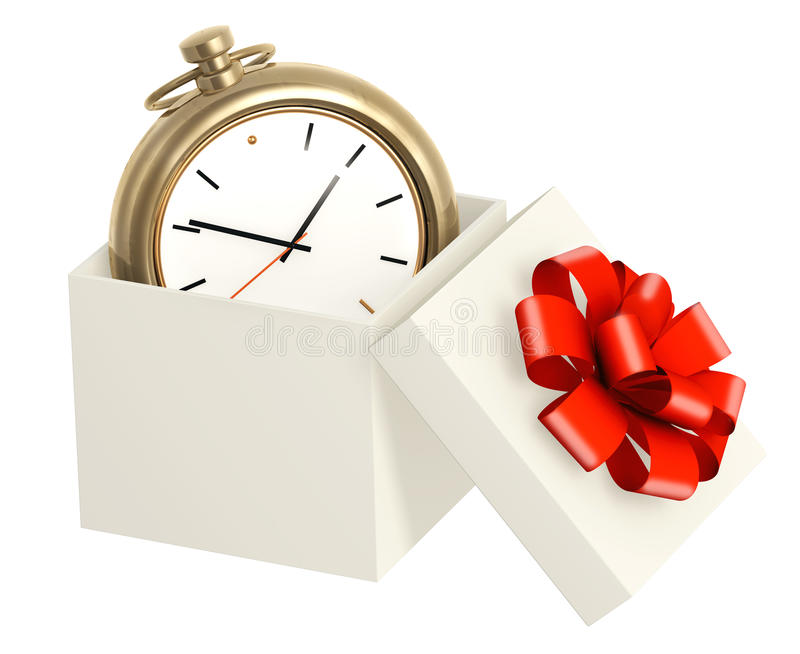 作为礼品时间 库存例证