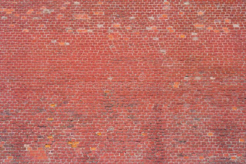 作为纹理,背景的老红砖墙壁 图库摄影