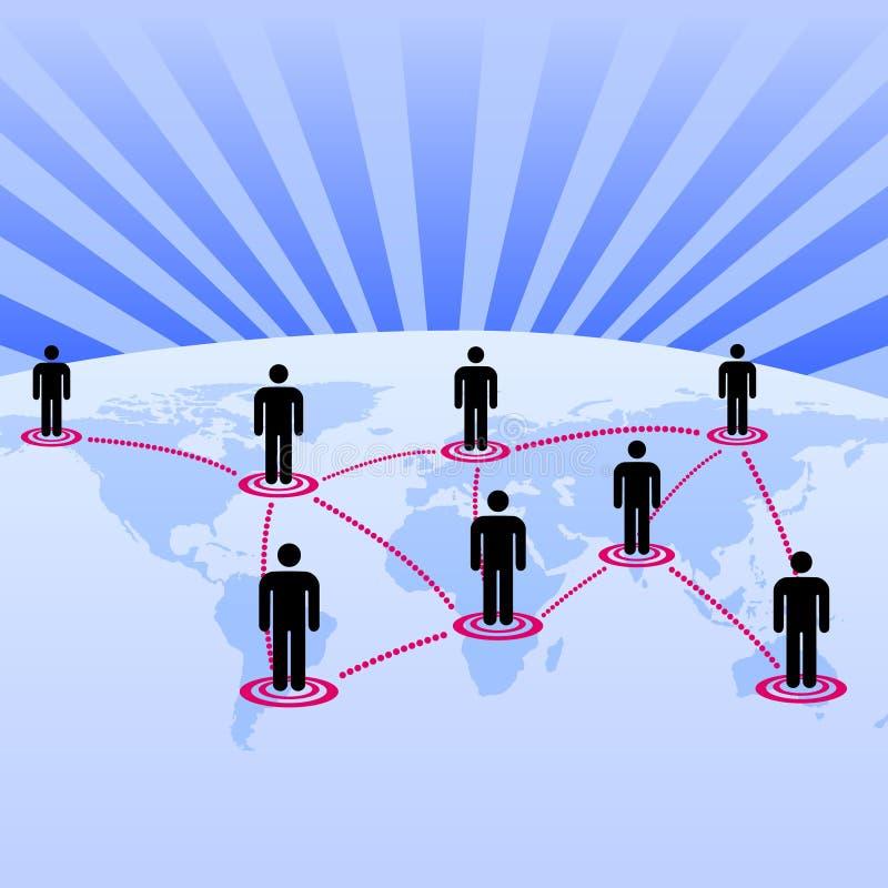 作为背景全球网络世界 向量例证