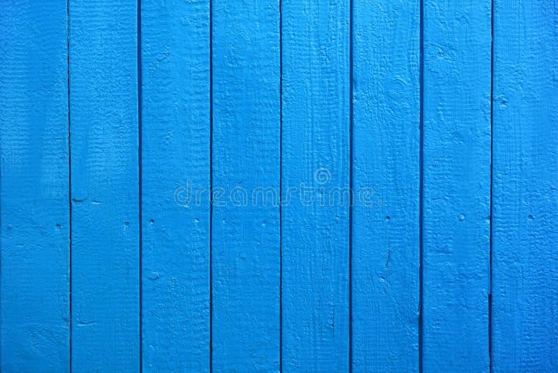作为背景或纹理的蓝色被绘的木板条 免版税库存图片