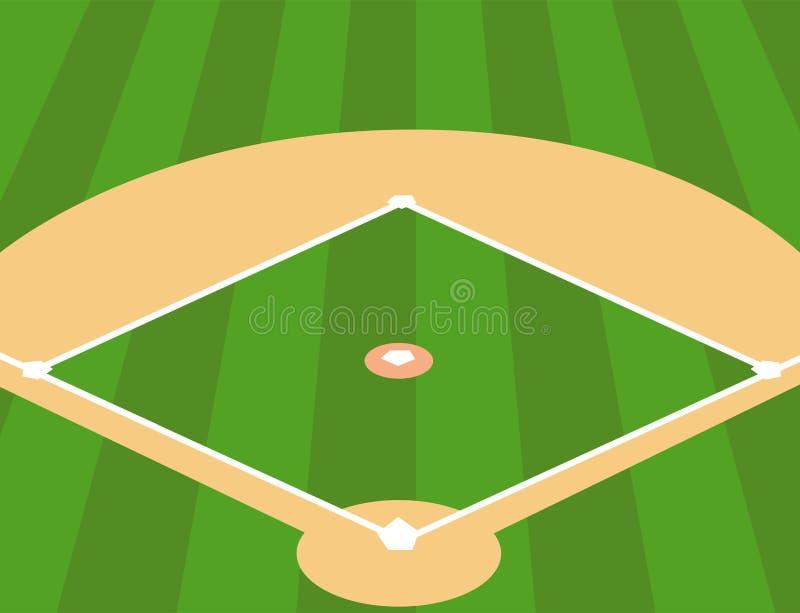 作为背景的棒球场 向量例证