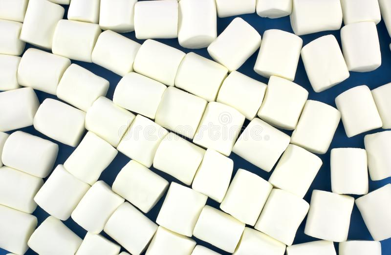 作为背景的白色蛋白软糖 蓬松蛋白软糖纹理 库存图片