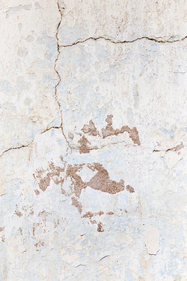 作为背景的破裂的混凝土墙 纹理 免版税库存照片