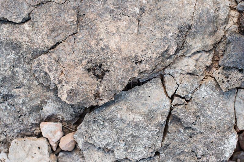 作为背景的破裂的石化粘土 免版税库存照片