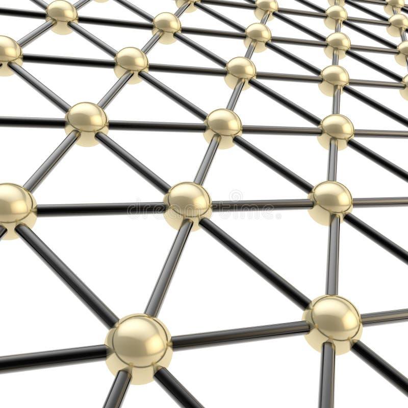 作为背景的网络结构构成 库存例证