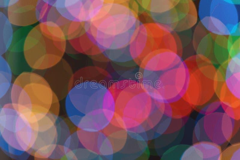 作为背景的美好的五颜六色的光 Bokeh 免版税库存图片