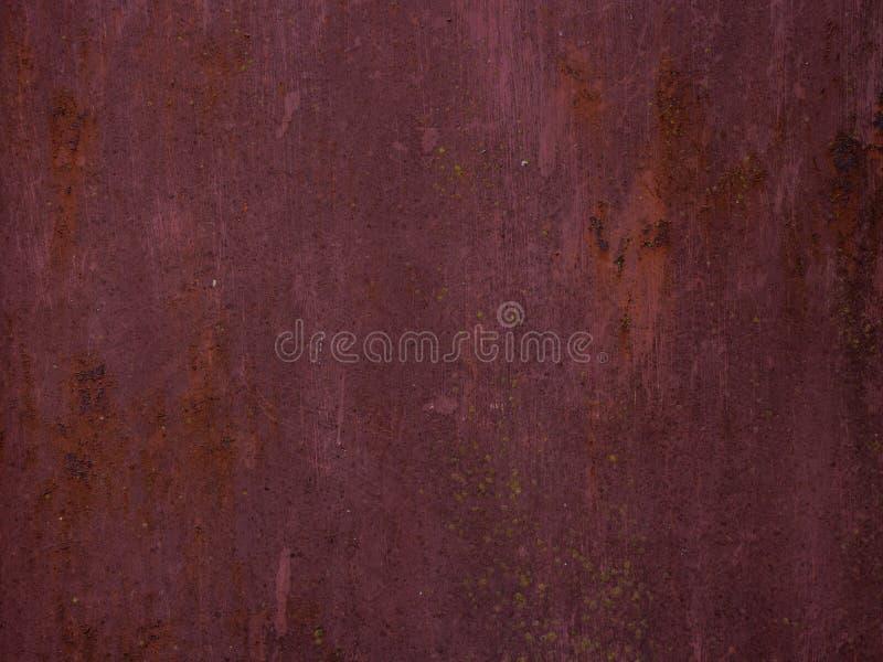 作为背景的老生锈的金属纹理 免版税库存图片