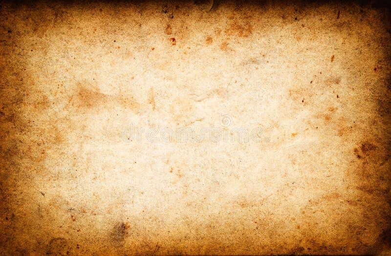 作为背景的葡萄酒难看的东西老纸纹理 免版税库存照片