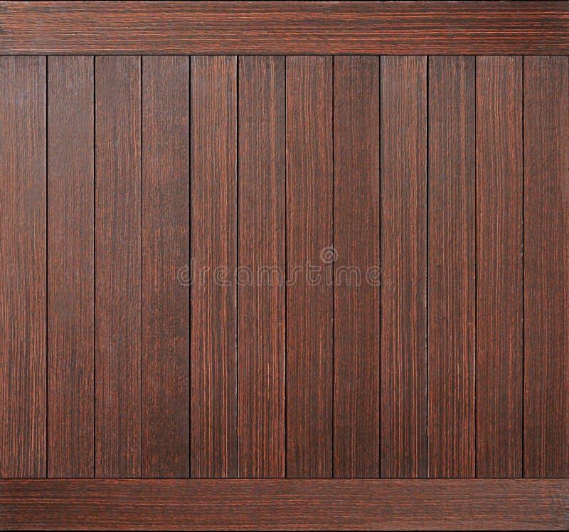 作为背景的黑褐色木板条纹理 免版税库存图片