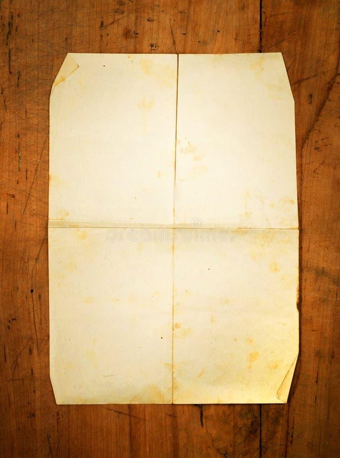 作为背景空白董事会被折叠的纸张 图库摄影