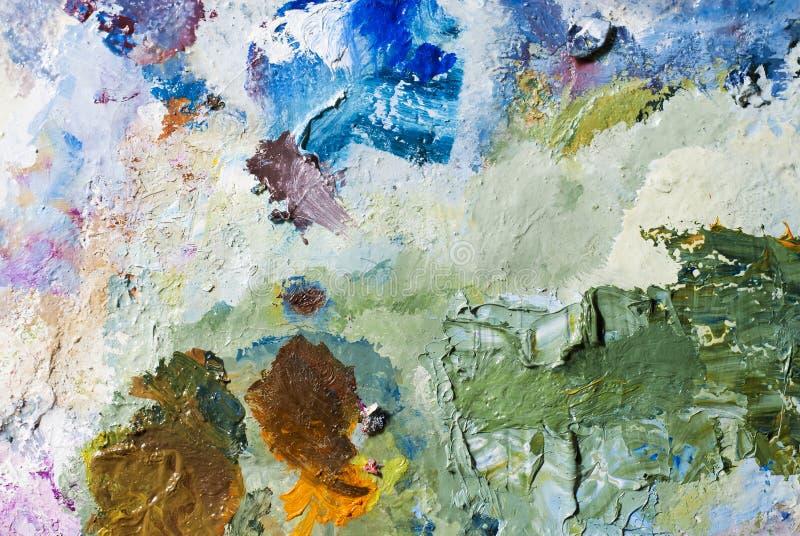 作为背景颜色实际的油漆的摘要 免版税库存图片