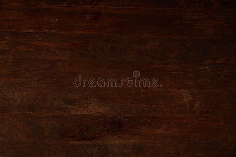 作为自然本底用完的木纹理,镶边水平的木材书桌,关闭 免版税库存图片