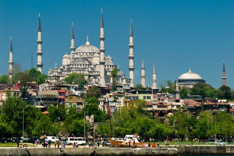 作为被看见的蓝色伊斯坦布尔清真寺&# 库存照片