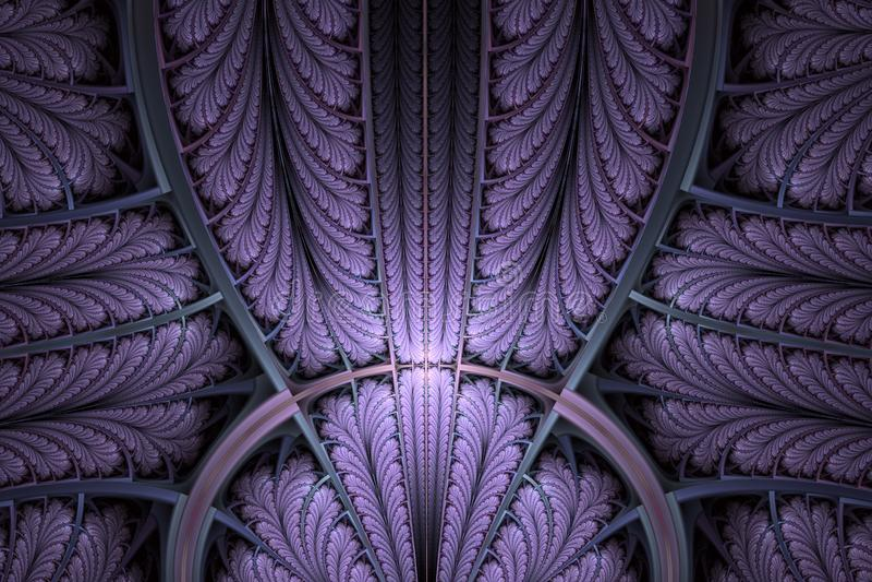 作为装饰品的多彩多姿的对称分数维样式 分数维艺术 库存例证