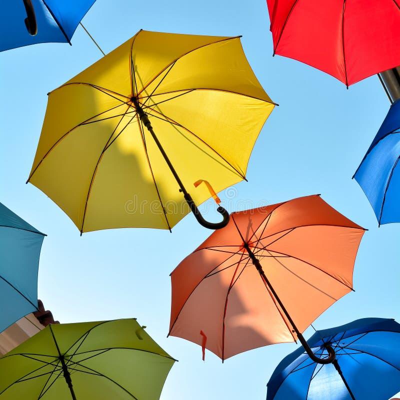 作为装饰的伞 免版税库存照片