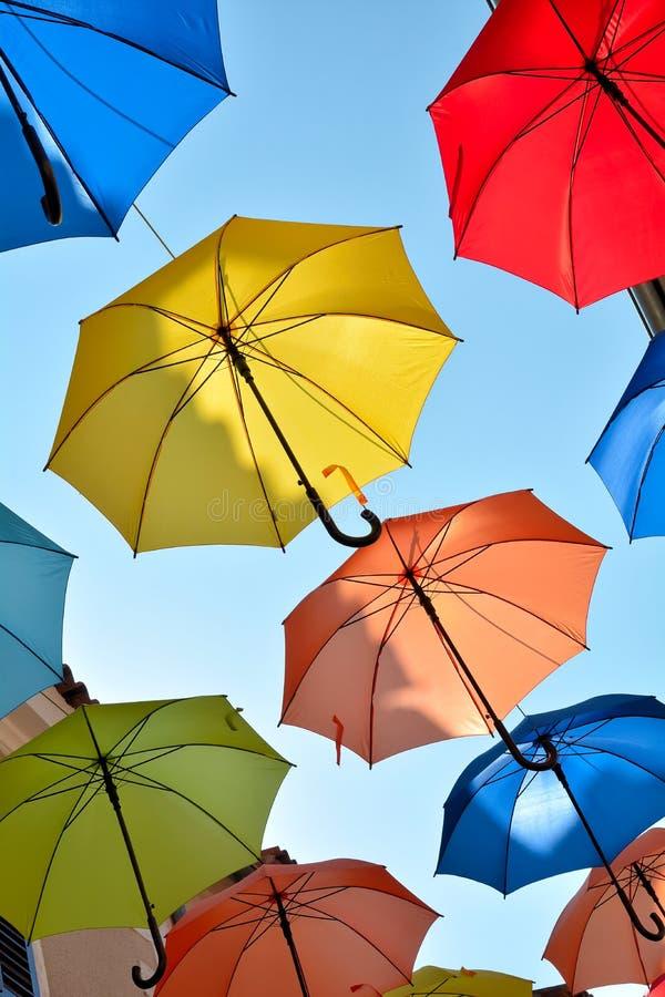 作为装饰的伞 库存照片