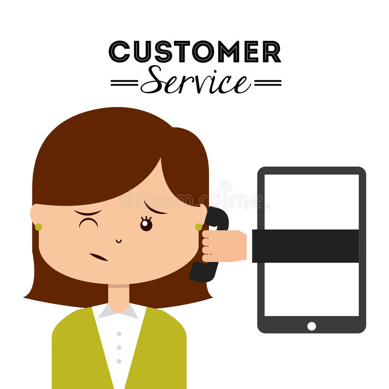Download 作为覆盖客户友好帮助有用的爱服务微笑对非常您的美丽的女实业家的天使 向量例证 - 插画 包括有 电话, 例证: 59101500