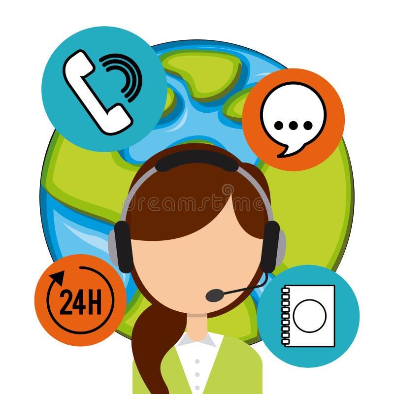 Download 作为覆盖客户友好帮助有用的爱服务微笑对非常您的美丽的女实业家的天使 向量例证 - 插画 包括有 技术支持, 符号: 59101526