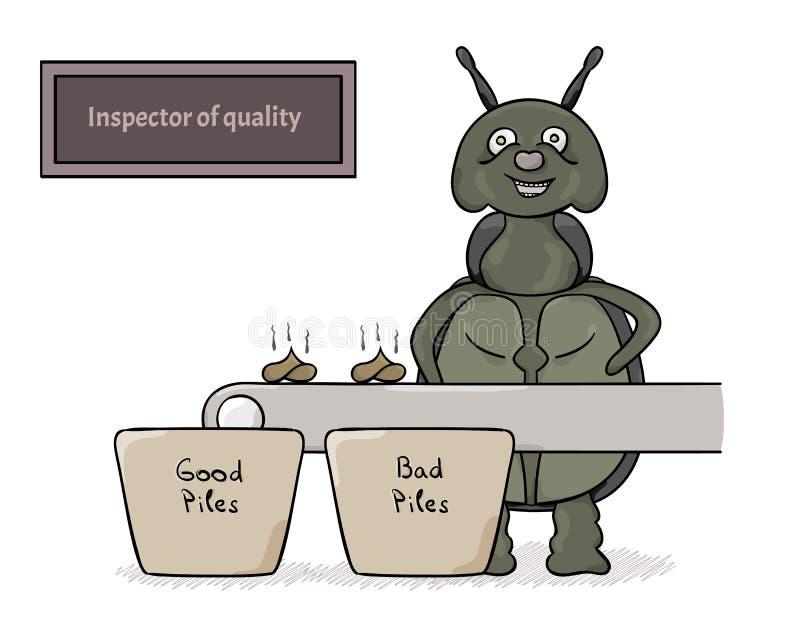 作为质量的审查员的臭虫 向量例证