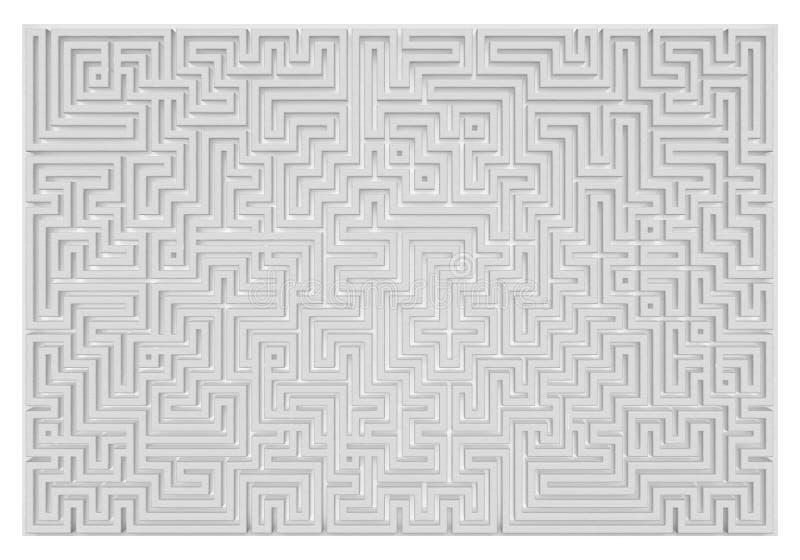 作为迷宫-例证3D翻译的墙壁 皇族释放例证