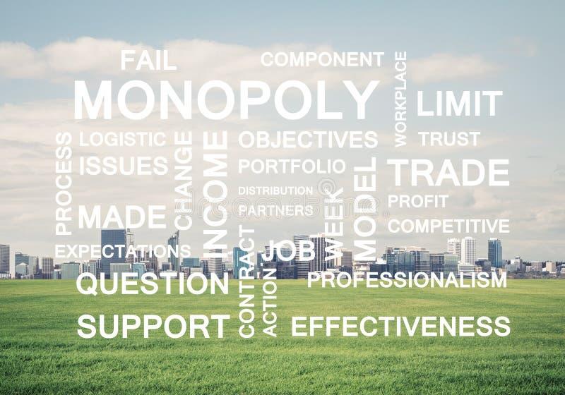 作为钥匙的企业概念性词的成功和公司成长 库存例证