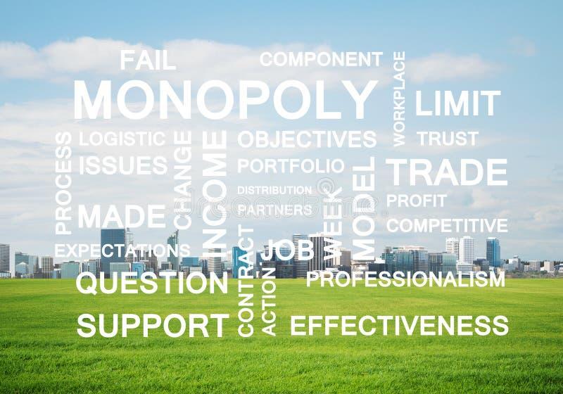 作为钥匙的企业概念性词的成功和公司成长 向量例证