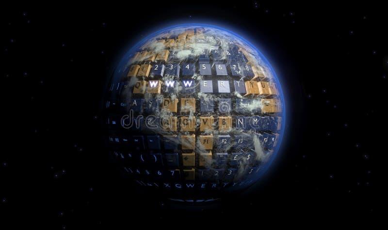 作为键盘被改造的地球美国 免版税库存图片