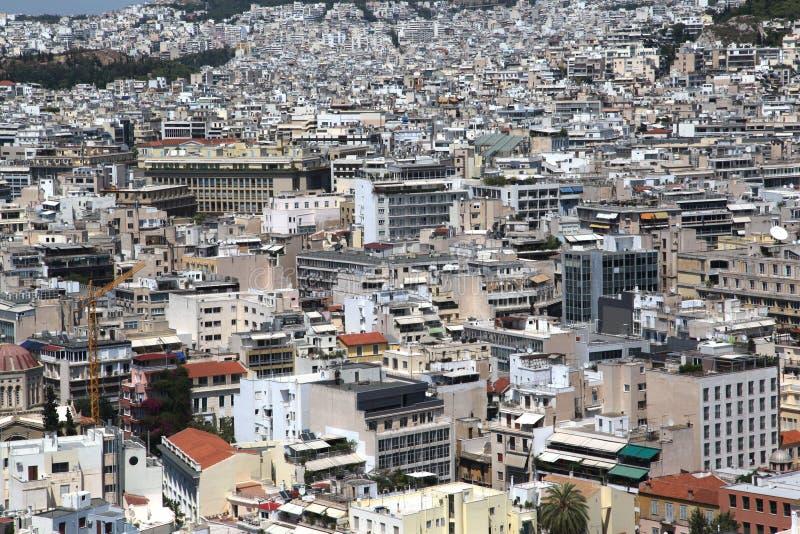 作为雅典被看见的希腊的上城 库存图片