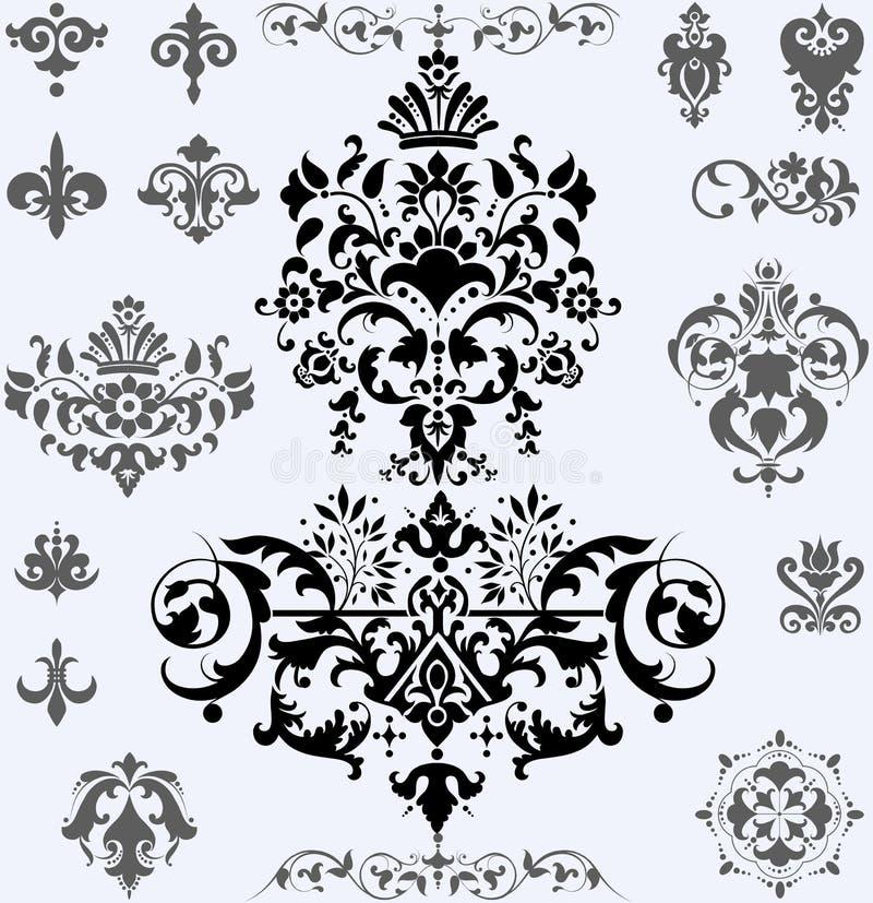 Download 作为颜色设计要素花卉滚动vectorized愿望您 向量例证. 插画 包括有 艺术, 金银细丝工, 装饰品 - 62530009