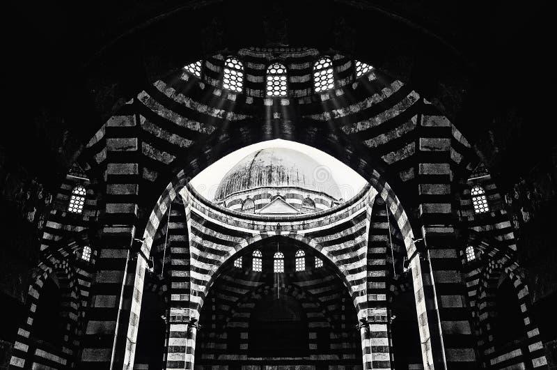 作为`大马士革广告巴夏的巨大老地方可汗  库存照片