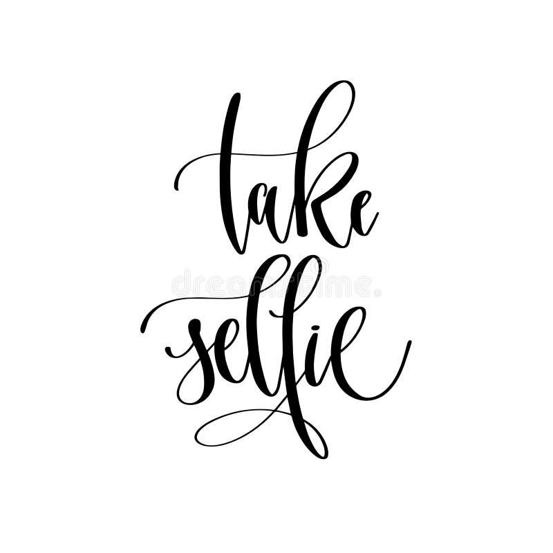 作为selfie -递字法覆盖物印刷术元素, motivat 皇族释放例证