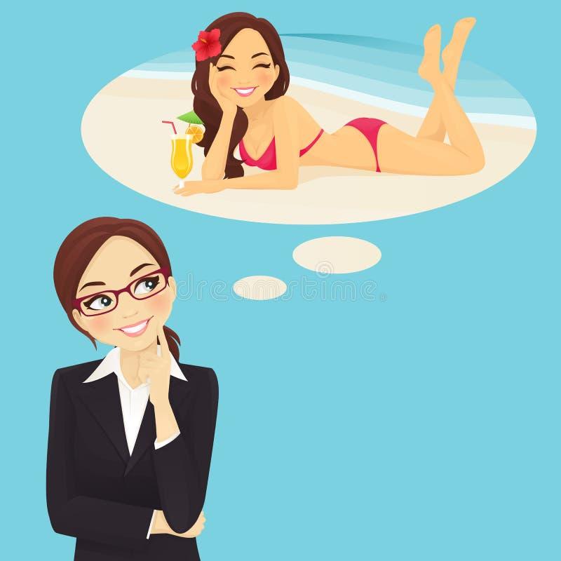 作假期妇女的商业 向量例证