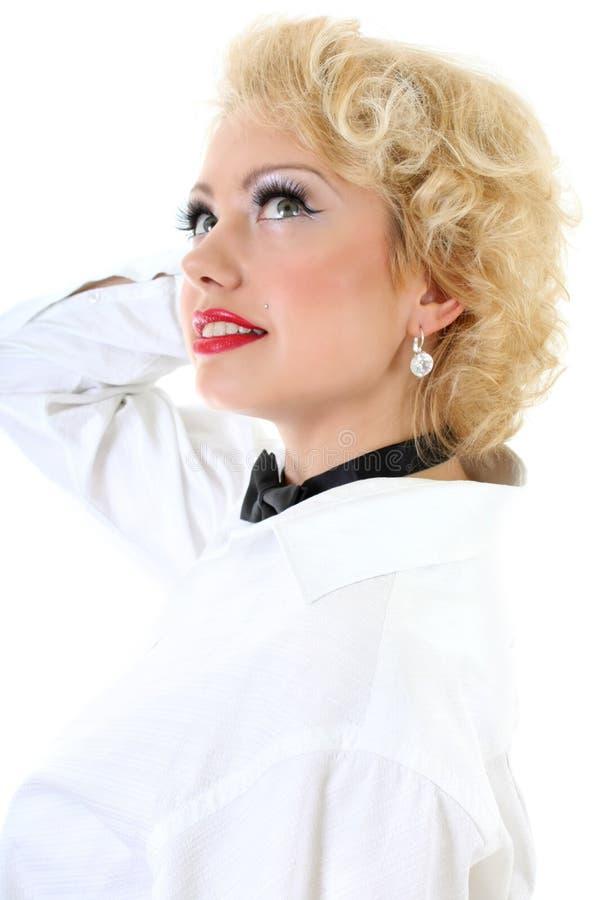 作妇女年轻人的blondie 库存照片