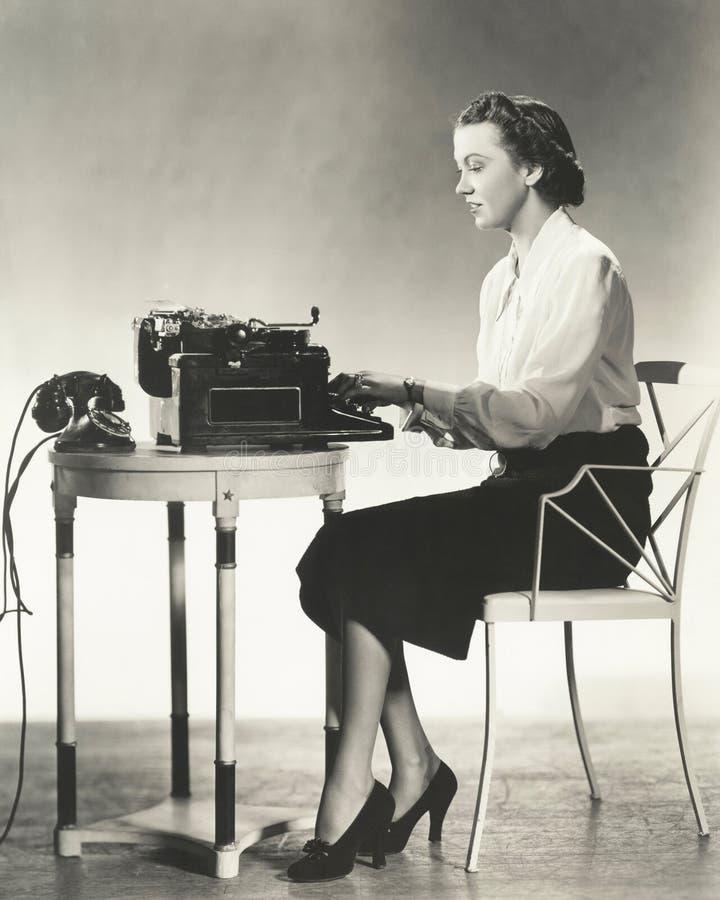 作家在工作 免版税图库摄影