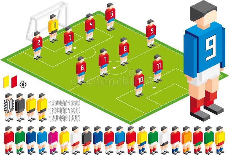 作战工具箱的足球 向量例证