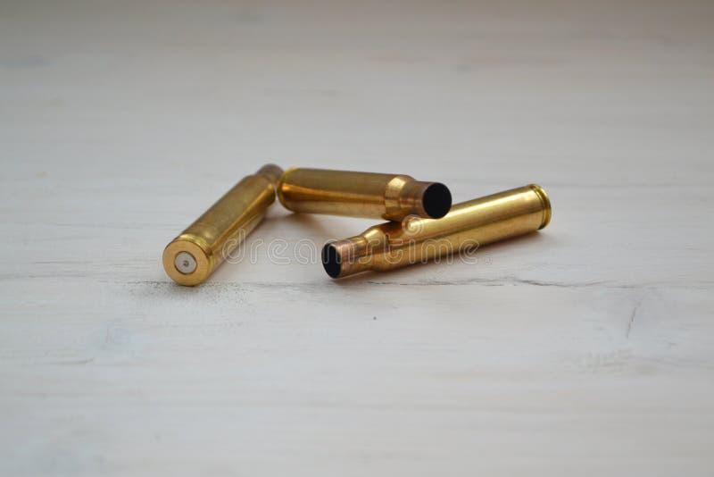 作战弹药筒的胶囊状的部分,大子弹 免版税库存图片