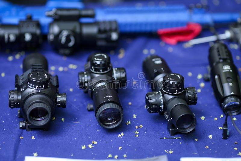 作战攻击步枪的范围 图库摄影