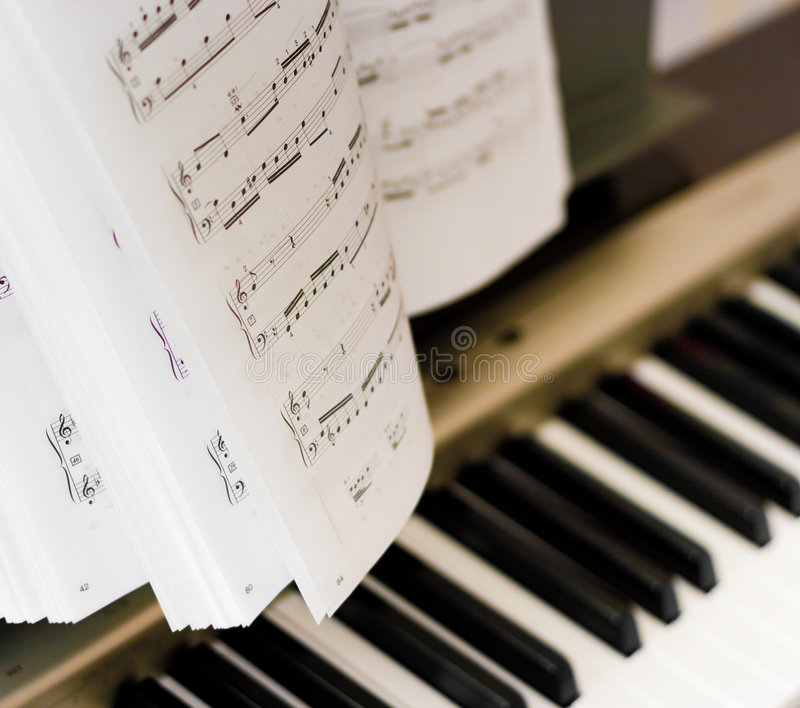 作曲家音符钢琴 图库摄影