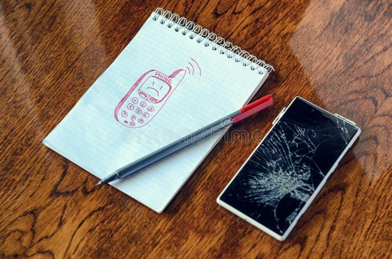 作梦,形象化欲望,需要一个新的电话概念 库存照片