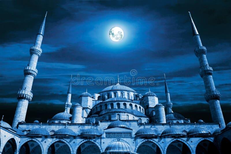 作清真寺晚上 库存图片