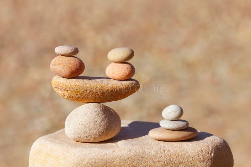 作用平衡的概念和生活 图库摄影