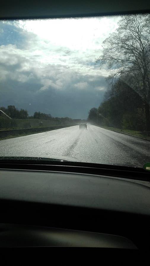 作用风险德国高速公路长期 免版税库存图片