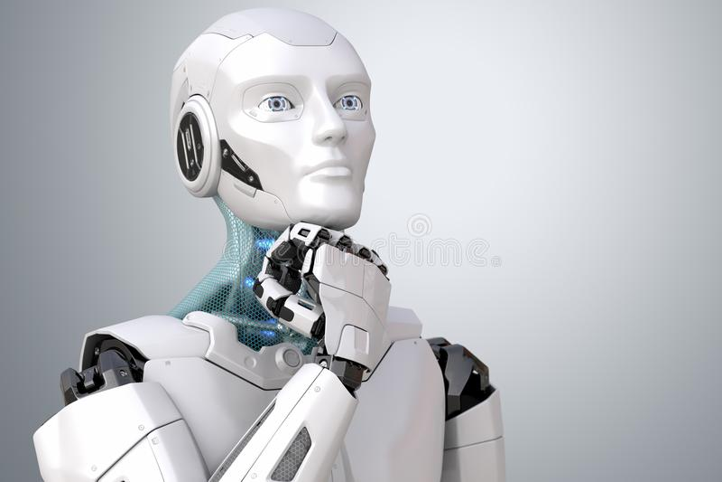 作科学幻想小说机器人 皇族释放例证