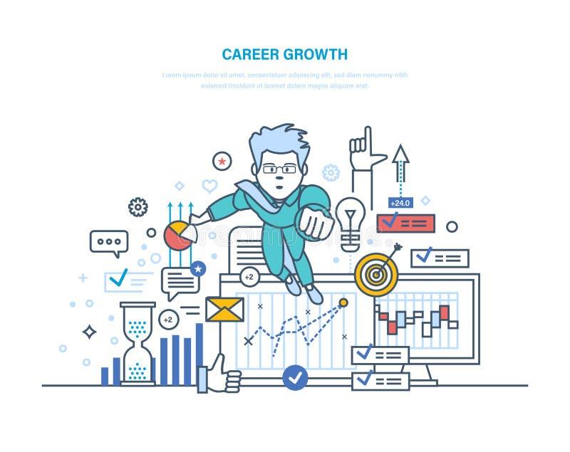 作者事业增长例证s向量 成就高目标、成功在事务和成长 皇族释放例证