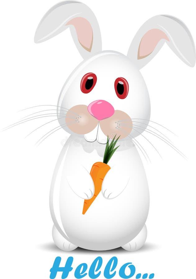 你好兔宝宝 免版税库存图片