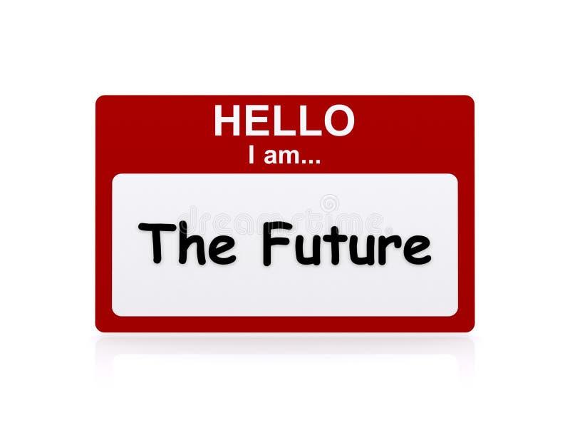 你好我是未来 向量例证