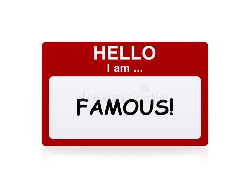 你好我是著名的 库存例证