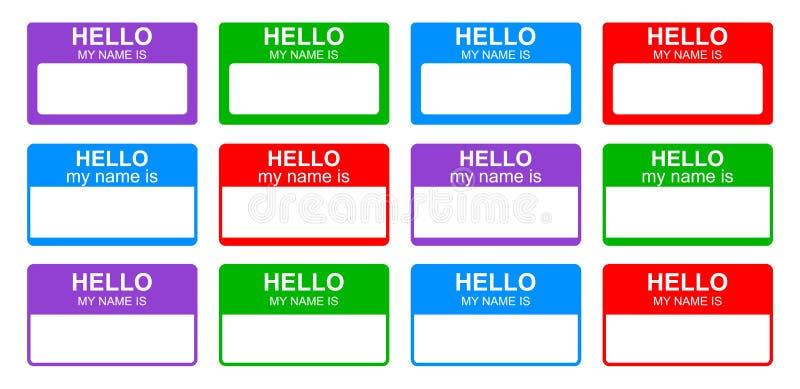 你好我的名字 向量例证