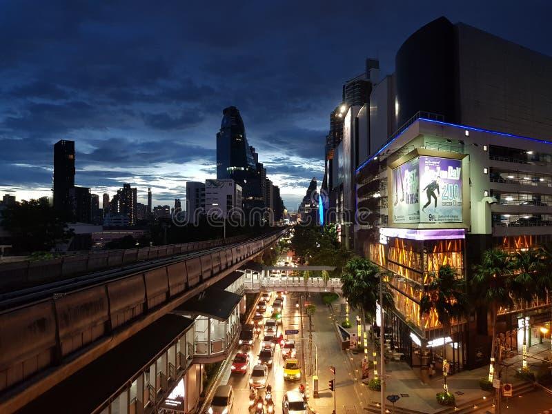你好曼谷这是我的生活在一个大城市 免版税库存图片